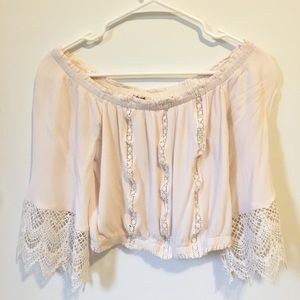 Off the Shoulder Peasant Blouse Size S